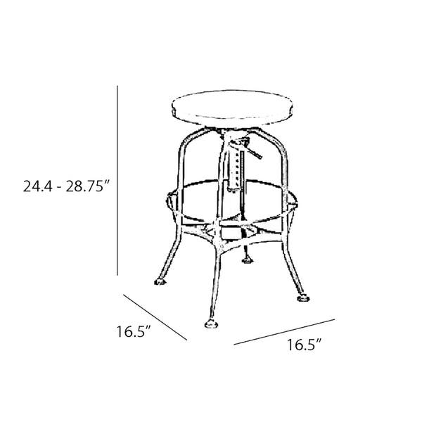 Surprising Shop Toledo Adjustable Vintage Copper Steel Barstool 25 29 Ocoug Best Dining Table And Chair Ideas Images Ocougorg