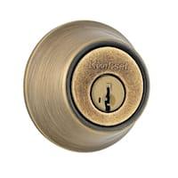 Kwikset  Antique Brass  Deadbolt  For Standard Doors Grade 3