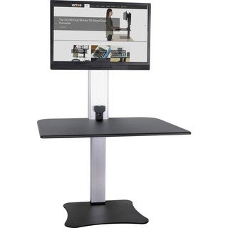 Victor High Rise Electric Single Monitor Standing Desk Workstation - Supports One Monitor of Any Size Up to 25 lbs