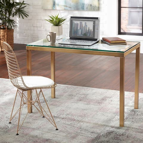 Simple Living Manhattan Gold Metal Desk