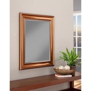 Sandberg Furniture Copper Finished 36 x 30-inch Wall Mirror
