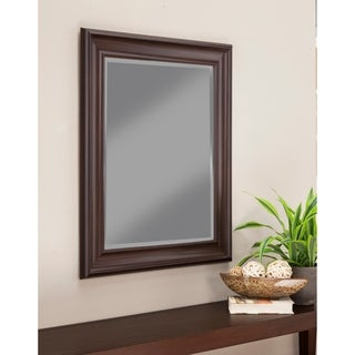 Sandberg Furniture Espresso 36 x 30-inch Wall Mirror - Dark Brown - A/N