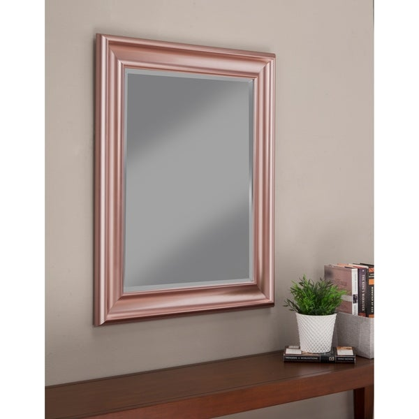 Sandberg Furniture Rose Gold 36 X 30 Inch Wall Mirror