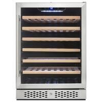 AKDY WC0030 54 Bottles Single Zone Built-in Compressor Freestanding Wine Cooler Refrigerator