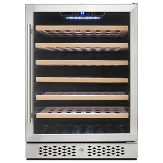 AKDY WC0030 54 Bottles Single Zone Built-in Compressor Freestanding Wine Cooler Refrigerator