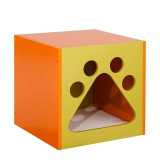 Oscar's Cuddle box in Mellow Green and Apricot Tan