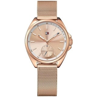 Tommy Hilfiger Women's Rose Gold Mesh Watch