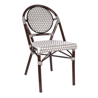 Le Marais Aluminum Wood Look-alike Stackable Bistro Chair