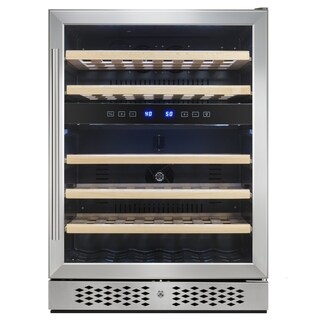 AKDY WC0031 46 Bottles Dual Zone Built-in Compressor Wine Cooler Refrigerator Touch Control