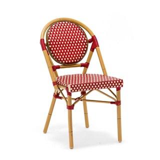 Le Marais Aluminum Wood Look-alike Stackable Bistro Chair