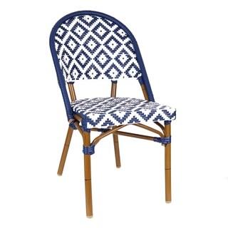 De La Paix Aluminum Wood Look Alike Stackable Bistro Chair
