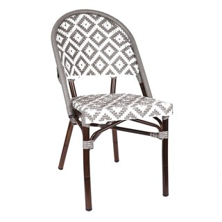 de La Paix Aluminum Wood Look-alike Stackable Bistro Chair
