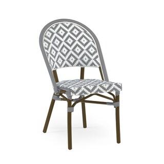 de La Paix Aluminum Wood Look-alike Stackable Bistro Chair