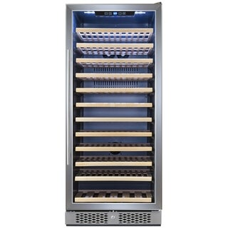 AKDY WC0034 127 Bottle Single Zone Touch Control Compressor Freestanding Wine Cooler Chiller
