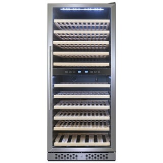 AKDY WC0035 116 Bottles Dual Zone Adjustable Built-in Compressor Freestanding Wine Cooler