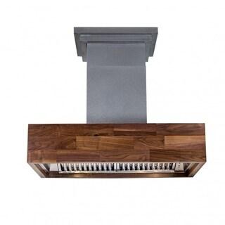 ZLINE 30 in.  Designer Series Wooden Wall Mount Range Hood in Butcher Block (681W-30)