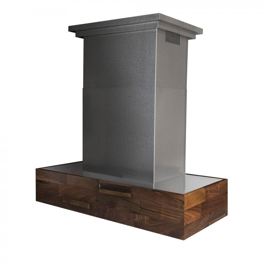 Zline Kitchen and Bath ZLINE 42 in.  Designer Series Wooden Wall Mount Range Hood in Butcher Block (681W-42)