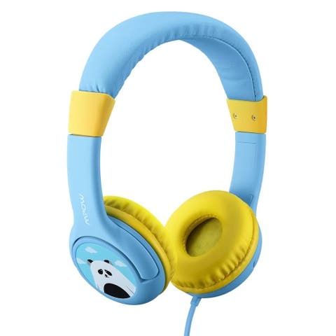 Mpow Kids Headphones Wired Headsets Volume Limiting Headphones with SharePort and Microphone for iPad iPod