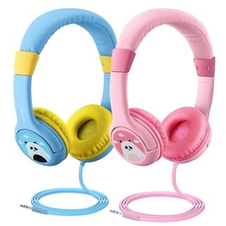 Mpow Kids Headphones Wired Headsets Volume Limiting Headphones with SharePort and Microphone Two Packs