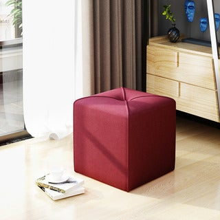 Kenyon Fabric Square Ottoman by Christopher Knight Home