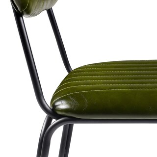 Versanora - Industriale Set of 2 Dining Chairs - Olive Green/Black