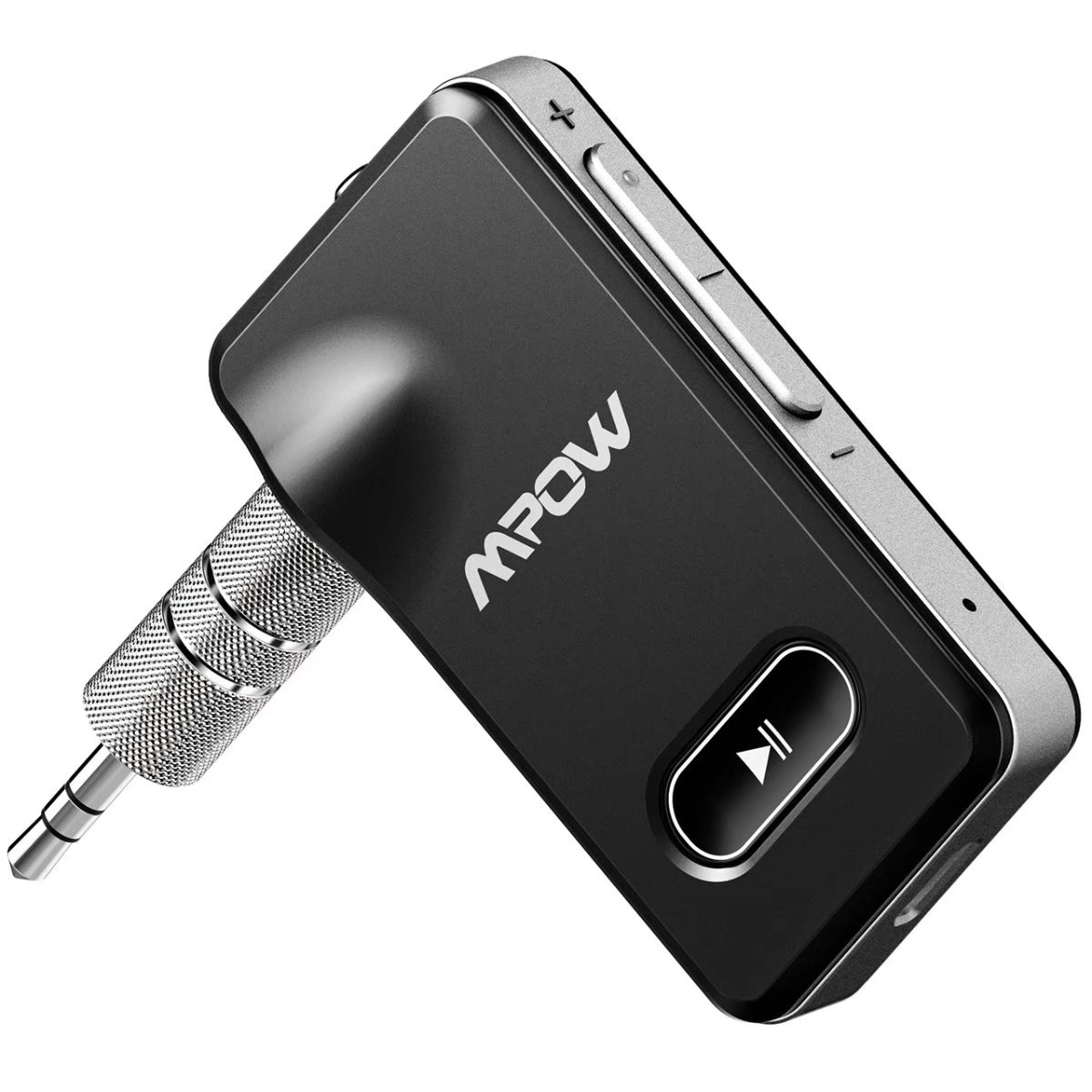 Wireless Bluetooth4.1 Bullet 3.5mm Car Aux Music Receiver Audio Adapter Black