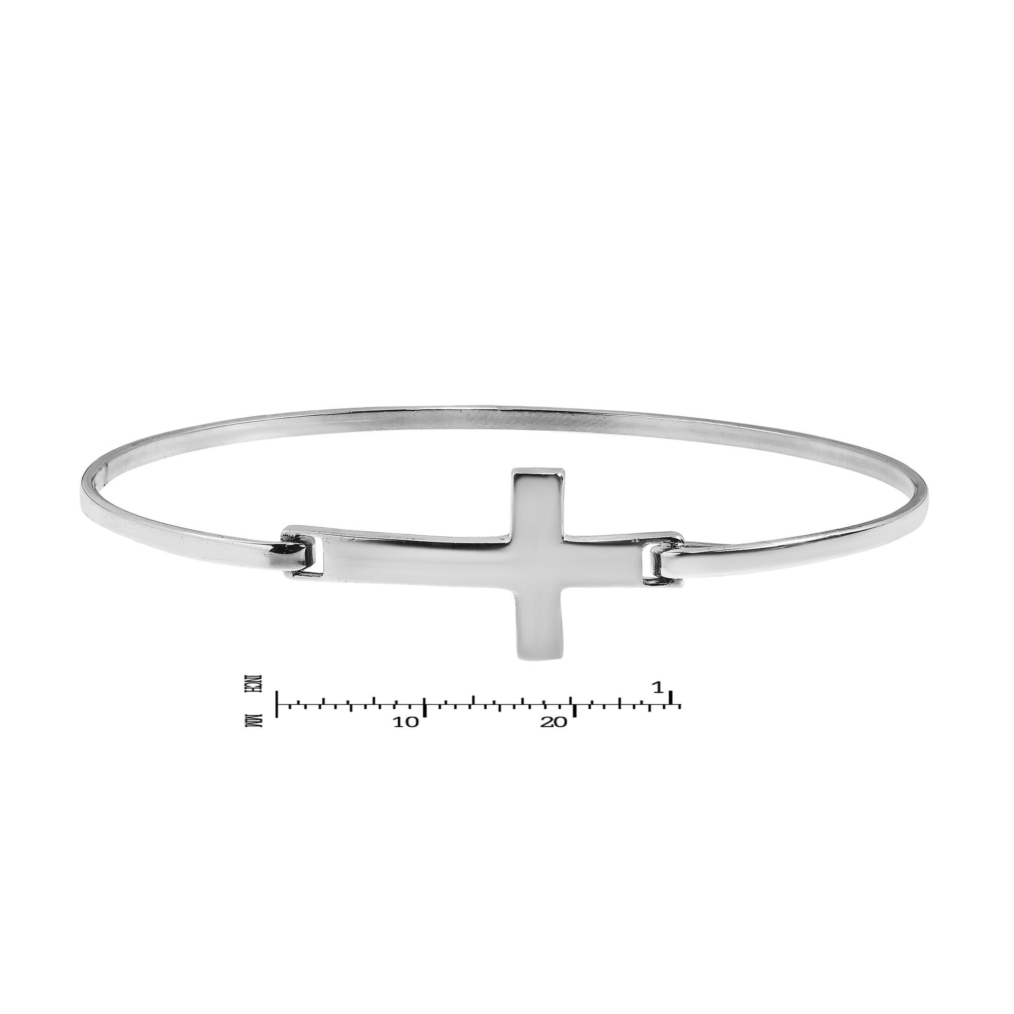 Cross Sterling Silver Bracelet