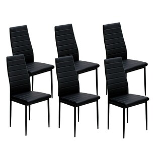 IDS Home Dining Chairs Set for 6 Dining Room Chairs with Cushion High Back Support - 8' x 10'