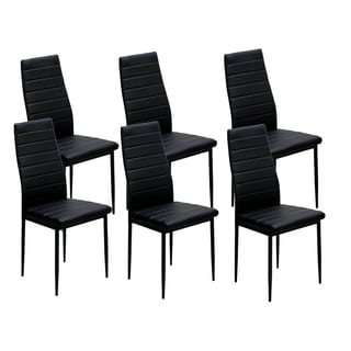 IDS Home Dining Chairs Set For 6 Dining Room Chairs With Cushion High Back  Support