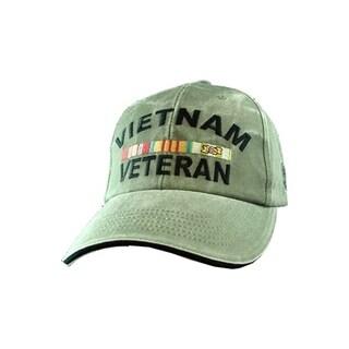 Vietnam Veteran Logo Green Cap