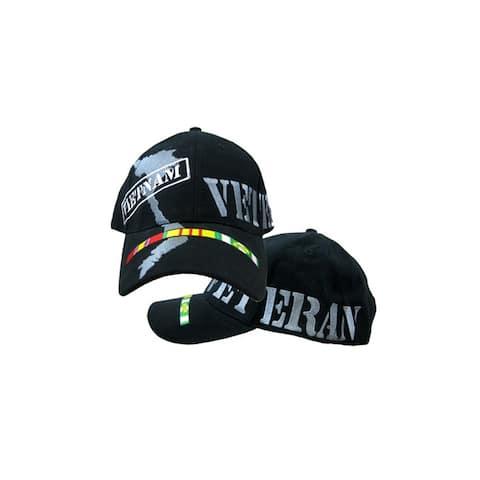 US Vietnam Veteran Ribbon Black Cap