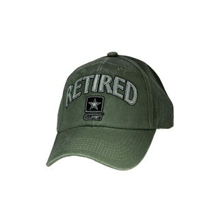 US Army Star Retired Green Military Cap