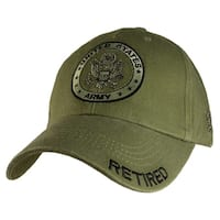 US Army Retired Green Military Cap