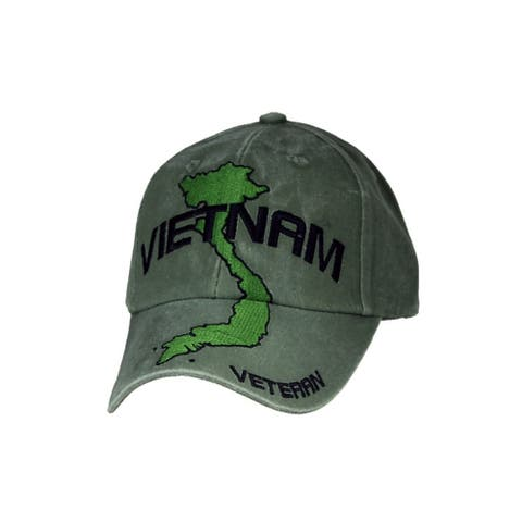 Vietnam Veteran Green Military Cap