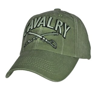 US Army Cavalry Military Green Cap