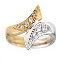 10K Two-Tone Gold Diamond Ring by Anika And August - White