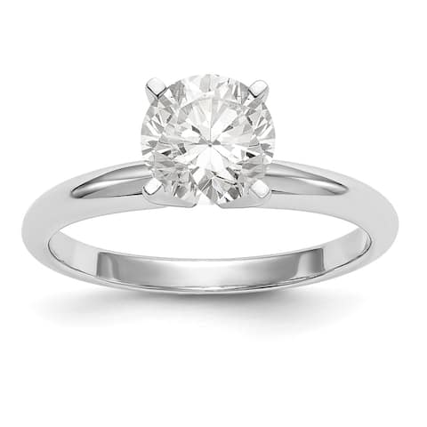 14K White Gold 1/2ct. 5mm Pure Light Moissanite Solitaire Ring by Versil