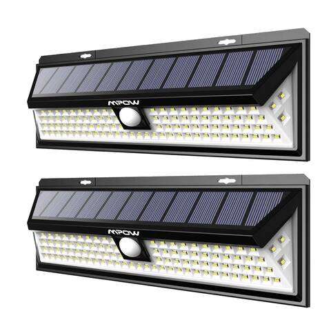 Mpow 102 LED Motion Sensor Solar Light Large Solar Panel Outdoor Light for Garden Driveway Yard Garage Pathway and Patio 2 pack