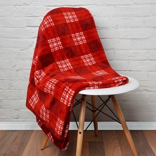 Lauren Taylor Rustic Cabin Plaid 60x80 Blanket