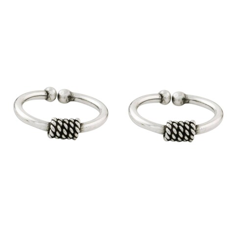 Handmade Set of 2 Sterling Silver 'Sleek Braid' Ear Cuffs (Thailand)
