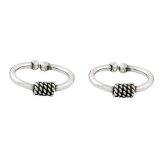 Set of 2 Handmade Sterling Silver 'Sleek Braid' Ear Cuffs (Thailand)