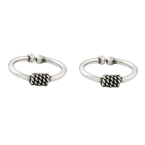 NOVICA Handmade Set of 2 Sterling Silver 'Sleek Braid' Ear Cuffs (Thailand)