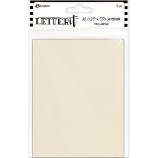 """Ranger Letter It Cardstock 4.25""""X5.5"""" 12/Pkg"""