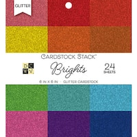 "DCWV Single-Sided Cardstock Stack 6""X6"" 24/Pkg"