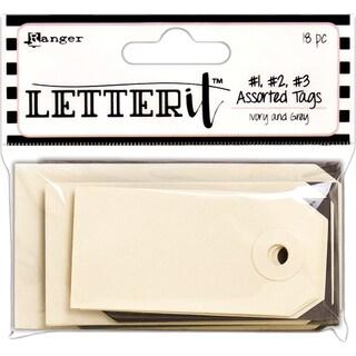 Ranger Letter It Tag Assortment 18/Pkg