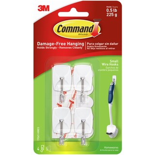 Command Small Wire Hooks 4/Pkg