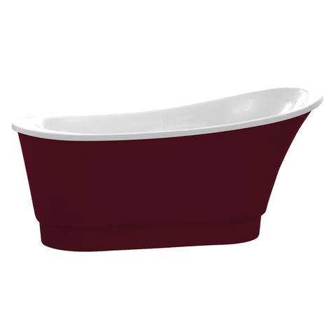 ANZZI Prima Series 5.58 ft. Freestanding Bathtub in Red