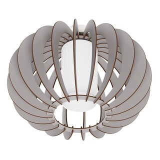 Eglo Stellato Colore Ceiling Light with Matte Nickel Finish and Grey Wood Shade