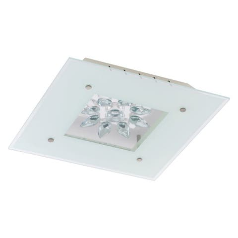 Eglo Benalua Ceiling Light with White Glass and Clear Trim