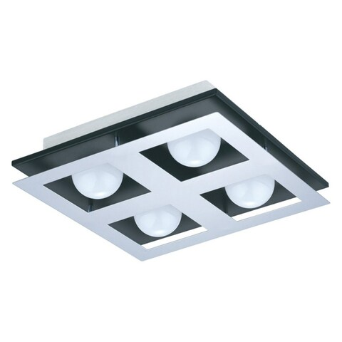 Eglo Bellamonte Ceiling Light with Brushed Aluminum and Black Finish